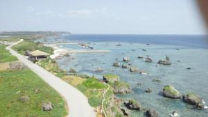 平安名埼灯台から見た海