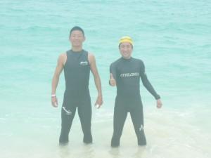 宮古島で試泳